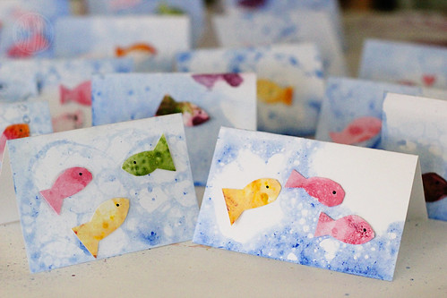bubble fish cards!