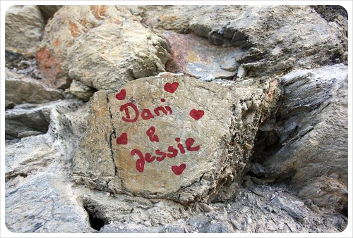 Dani & Jess immortalized in rock
