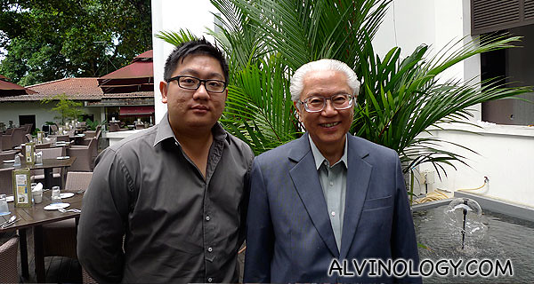 My picture with Dr Tony Tan