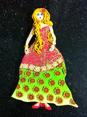 Lady D (idit.biton) Tags: flowers lady dress clay polymer millifiori