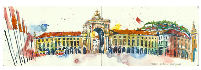 32nd World Sketchcrawl @ Praca Do Comercio