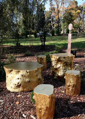 Phillips Collection gold stump tables
