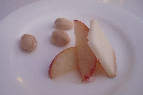 Wonderful Pistachios, Peaches, Vermouth, Capricious Goat Cheese