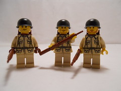 Riflemen (THEBrickTrooper) Tags: lego german ww2 americans minifig axis allies brickarms mmcb