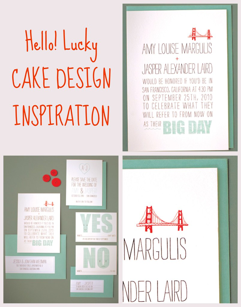 HELLO! lucky cake design inspiration