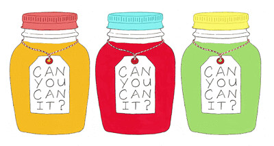 Can You Can It? logo by Eve Fox, The Garden of Eating blog, copyright 2011