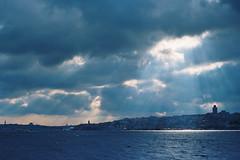 Impress (a l e x . k) Tags: light sea cloud film sunshine ferry skyline turkey istanbul radiant bosphorus lx 博斯普魯斯海峽 penatx fa43mmf19