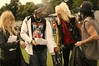 HIGH VOLTAGE FESTIVAL, 23/07/11, Victoria Park, London.      ANOTHER YEAR-ANOTHER BLAST!!      Catching up with Michael Monroe and Dregen (Michaels newly recruited guitarist)...& me-checking my precious time before the Interview at the HVF-Press Area.