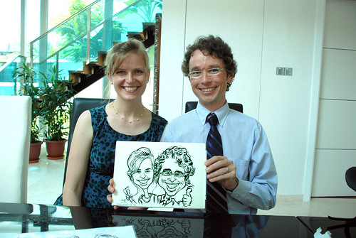 caricature live sketching for wedding solemnisation - 14