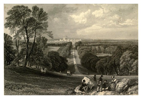 006-Castillo de Windsor desde Long Walk-Windsor Castl and its environs 1848- Ritchie Leitch