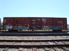 TAZER - KNEW by EAK (4GSMAG_DOTCOM) Tags: california train graffiti kevin canyon american harris 170 shak tazer northbay knew sest eak kruck shak1
