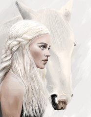 Daenerys Targaryen Pre-Final version (crushtest) Tags: painting daenerys gameofthrones targaryen