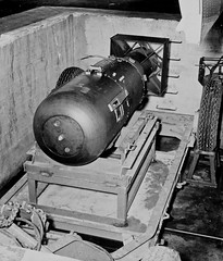 1945 ... 'Little Boy' atomic bomb (x-ray delta one) Tags: 1948 america vintage advertising media russia propaganda aircraft sac nuclear nostalgia trinity 1950s ww2 americana missile falloutshelter civildefense capitalism bigbrother littleboy atomic populuxe nato stalin coldwar aerospace atomicbomb ussr fallout icbm airtoair berlinairlift strategicaircommand communisim departmentofenergy tinian ww3 worldwar3 greatpatrioticwar atomicwar warsawpact hydrogenbomb thermonuclearwar kiloton nucleardeterent atomicannihilation atomicairplane august51945