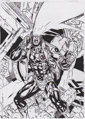 Cyclops (m0duspwnens) Tags: comic cyclops xmen marvel inking