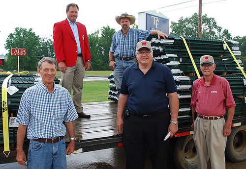 John Sudduth, Don Allison, Carl Godsey, Allen Owens  and NRCS' Wade Hill distributed the fencing supplies to tornado victims in Marion, Franklin and Lawrence Counties.