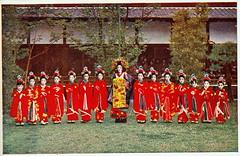 Tayuu and fourteen child attendants (kamuro) (noel43) Tags: japan japanese district prostitute prostitution redlight pleasure meiji courtesan quaters yoshiwara oiran tayu tayuu kamuro