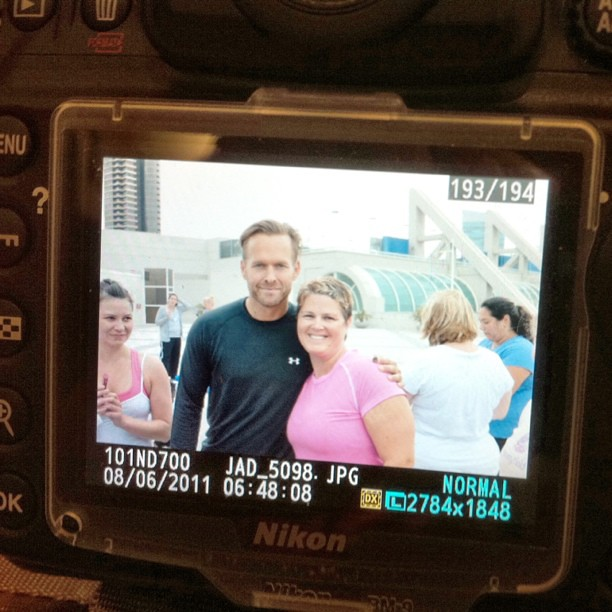 Project 365 217/365: Me and @mytrainerbob. A picture of the back of my DSLR