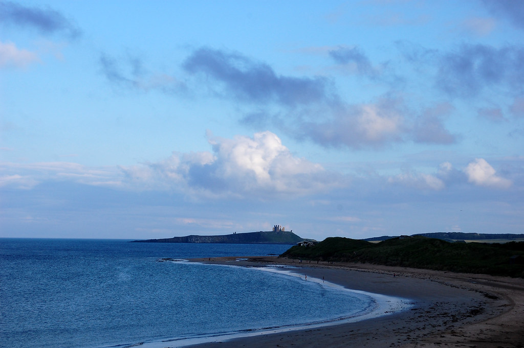 Newton Haven Beach Towards Dunstanburgh Castle
