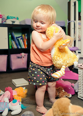 Hugs (Jon Schusteritsch) Tags: summer portrait playing cute 35mm toys evening bedroom nikon toddler zoey pretty sweet flash august longisland polkadots stuffedanimals bedtime cls onelight beautydish strobist nikkor35mmf2d d700 sb700 lumodi