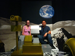 Sitting in the Lunar Rover