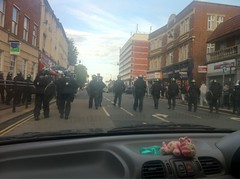 Riot Police near Enfield Town Station by mcgillianaire