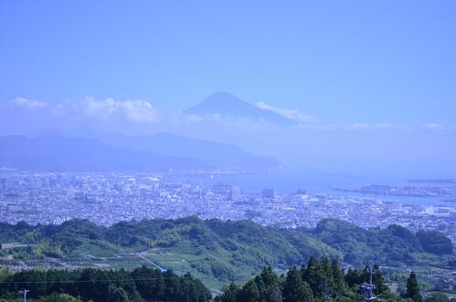 日本平辺りから見下ろした清水市