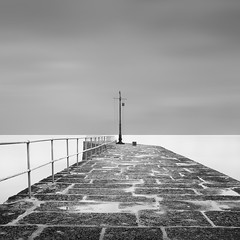 'Porth 11', Cornwall (Weeman76) Tags: uk longexposure sea bw seascape southwest monochrome mono nikon cornwall harbour minimal le minimalist porthleven d90 nd110 niksoft silverefexpro2