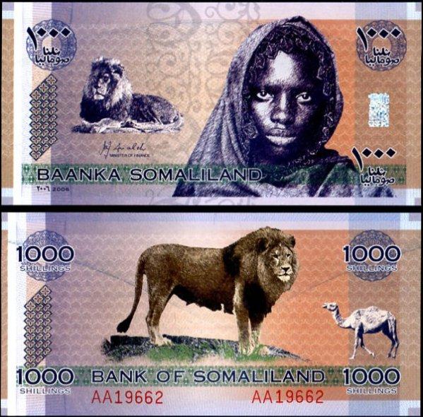 1000 Šilingov Somaliland 2006, pamätné vydanie