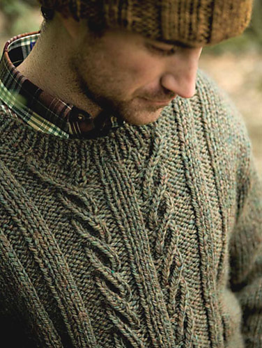 Berroco - Norah Gaughan Men - Devon Sweater Pattern Cover