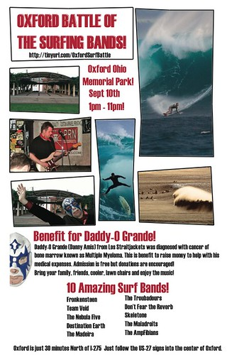 2011 Battle of the surfing bands poster