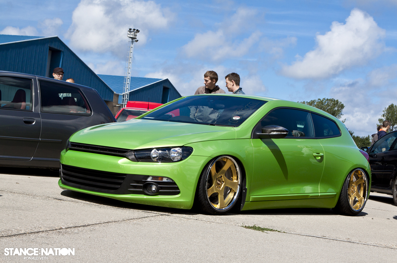 Green x Gold // VW Scirocco | StanceNation™ // Form > Function