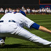 Lucas Duda stretches