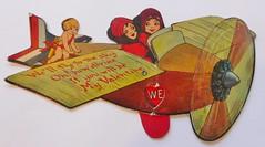 WE'LL FLY TO THE SKY VALENTINE 1936 (ussiwojima) Tags: valentine card valentinecard