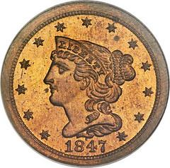 1847 Half Cent obverse