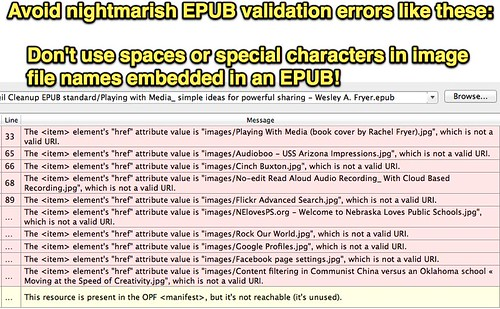 Avoid nightmarish EPUB validation errors like these