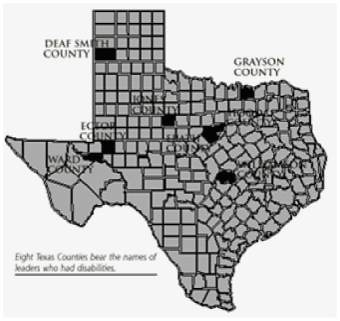 8 Texas Counties Named for Texans with Disabilities