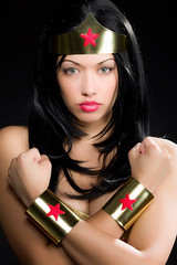 Wonder Woman cosplay (VictoriaCosplay) Tags: tiara cosplay superman wonderwoman batman bracelets dccomics lyndacarter justiceleague youngjustice new52 cosplaygirl victoriacosplay wwwcosplaygirlwebscom