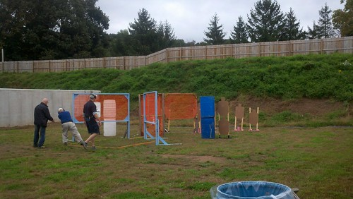 Stage 3 of the Lower Providence USPSA Match. I cleared this one (All A Zone Shots) but my time was slow.