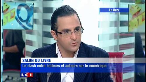 Arash Derambarsh à LCI : débat entre éditeurs et auteurs (salon du livre de Paris 2011)
