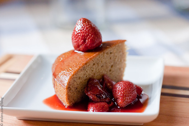 Banana Cake w/ Strawberries