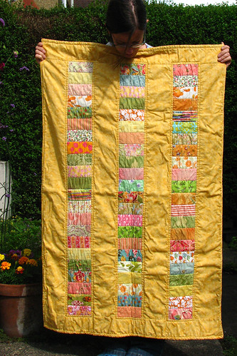 marigolds and quilt