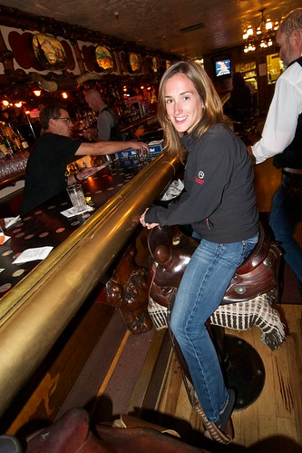 Stef in the Million Dollar Cowboy Bar