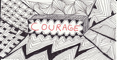 courage (Blind Squirrel Photo Safari) Tags: art tile drawing hobby doodle tangle zentangle