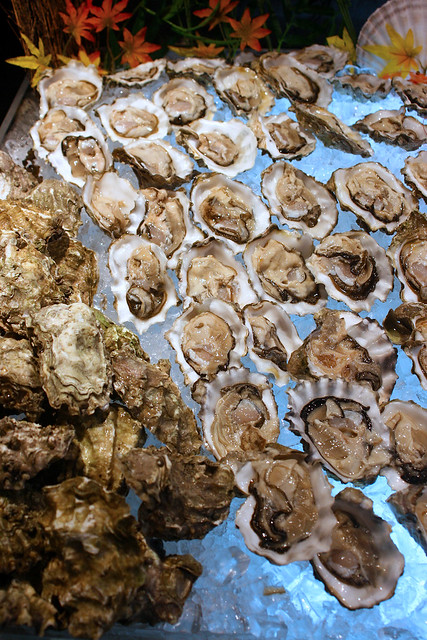 Many people's favourite - freshly shucked oysters