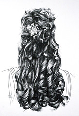 The North Adams Hair Project #5 (fineartvaughan) Tags: art hair drawing fineart curls linedrawing updo weddinghair genderidentity identityart jonathanvaughan jonovaughan