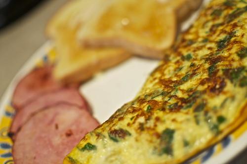Spinach Egg Omlette