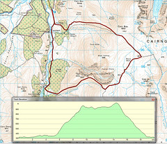 Glen Feshie Route (Jist A Blether) Tags: park map glen route national mtb cairngorm feshie