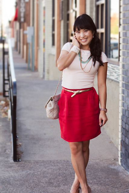 bebe pink top forever 21 red belted woven skirt aldo nude slingbacks mk5430 yesstyle sarah quilted purse forever 21 mint layered necklace ann taylor perfect metallic skinny gold belt belt