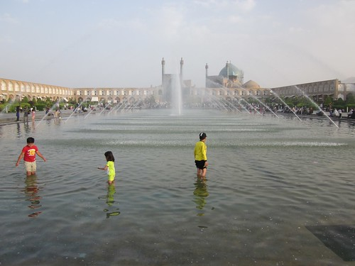 Children playing in Naqsh-e Jahan Square, Isfahan