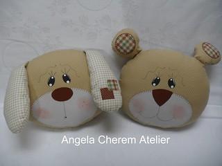 Almofadinhas para bebê cachorrinho e ursinho